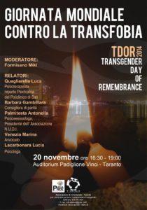 T genus giornata contro la transfobia 20 nov.
