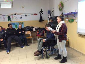 F. Lorizio e una studentessa del Don Milani - Pertini